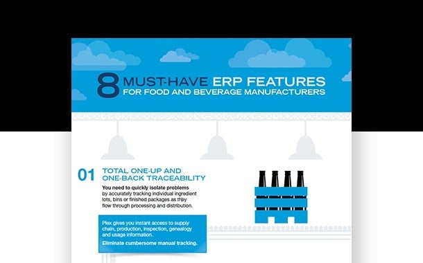 8 Must-Have ERP Features for Food & Beverage Manufacturers