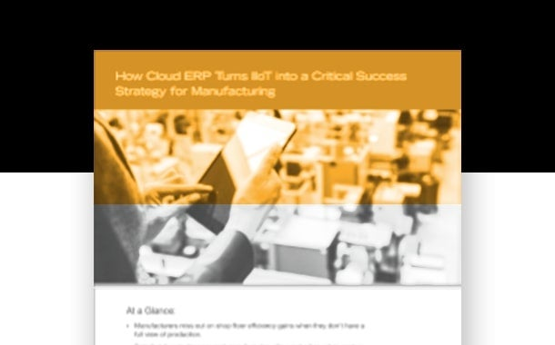 Cloud ERP Enables IIoT for Manufacturing