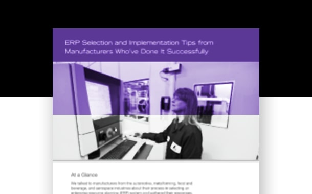 ERP Selection and Implementation Tips