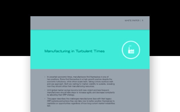 Manufacturing in Turbulent Times