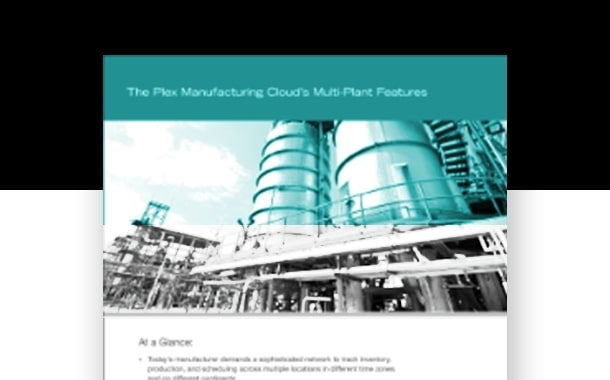 The Plex Manufacturing Cloud's Multi-Plant Features