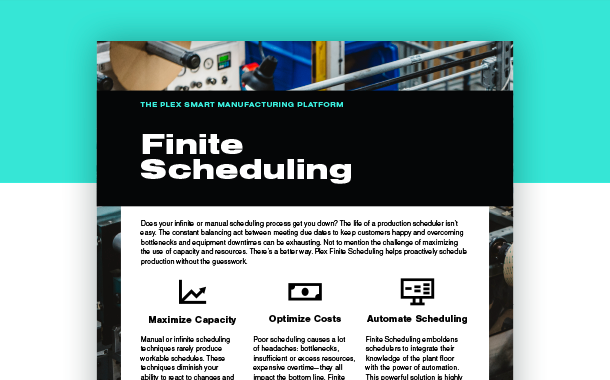 Finite Scheduling Data Sheet Preview
