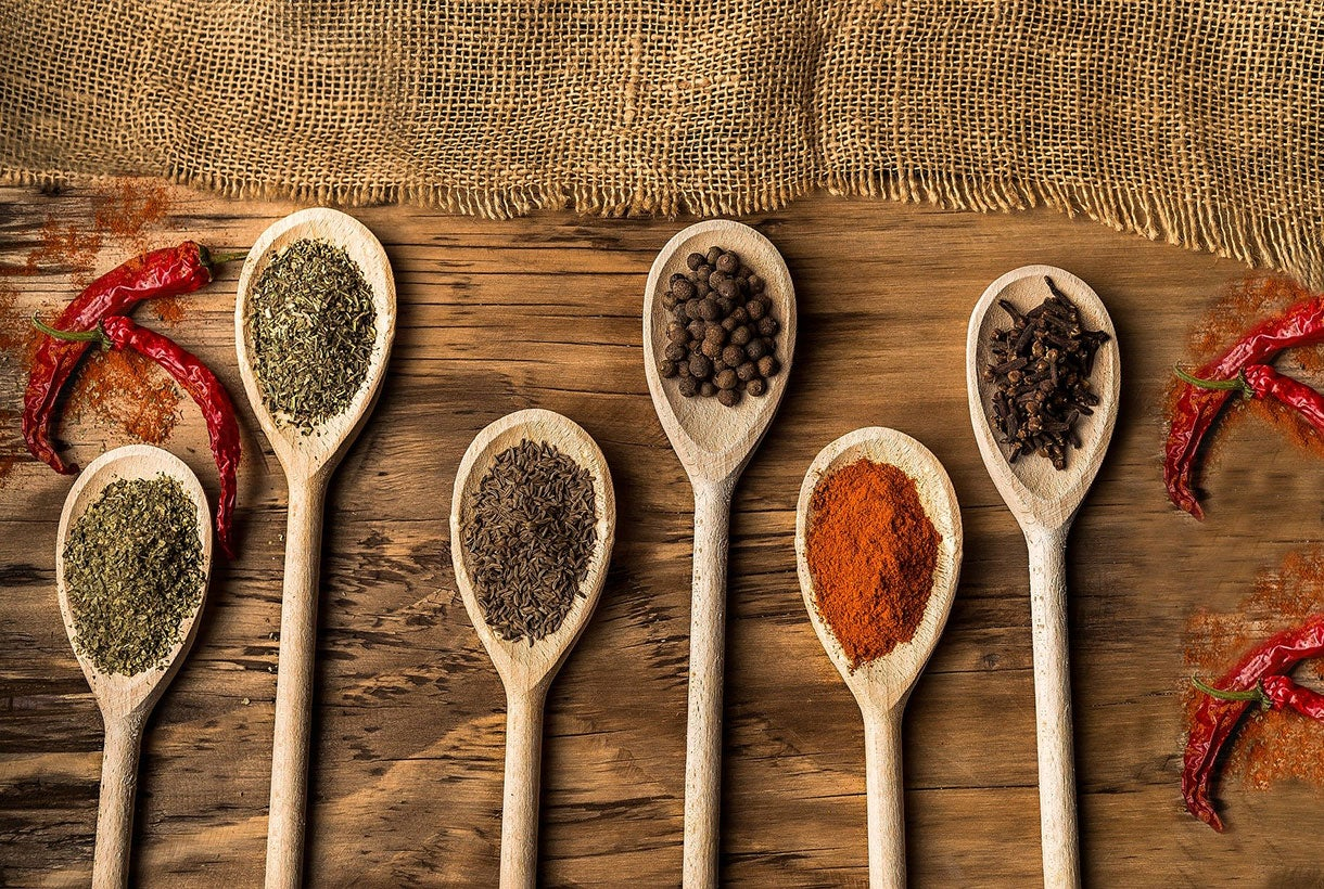 Food and Beverage Manufacturers - Olde Thomspon - Spices in Spoons